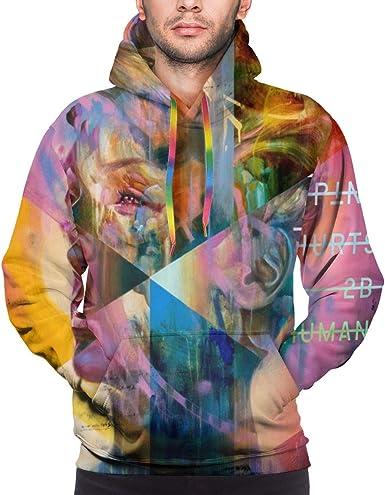 Mens Hoodie Sweatshirt Pink-P!nk Sweater Black