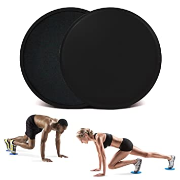 LOT OF 2 Dual Sided Gliding Discs 4 Core Sliders Exercise Sliding Workout Carpet