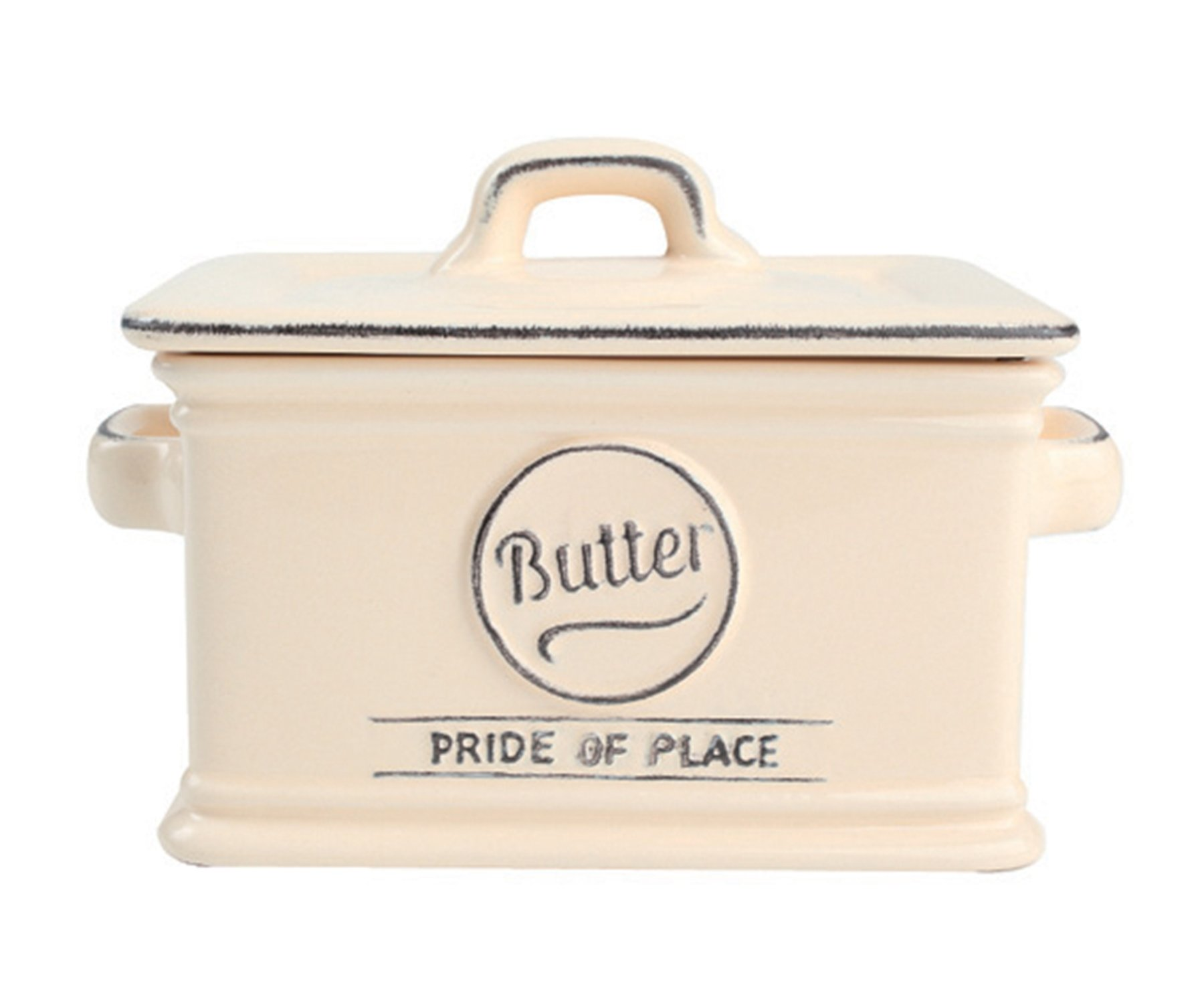 T&G Woodware Pride of Place Old Cream Butter Dish 18020