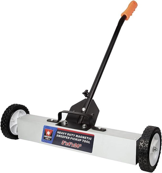NEW 22 In Magnetic Floor Sweeper with Release Metal Picker Upper Clean Garage