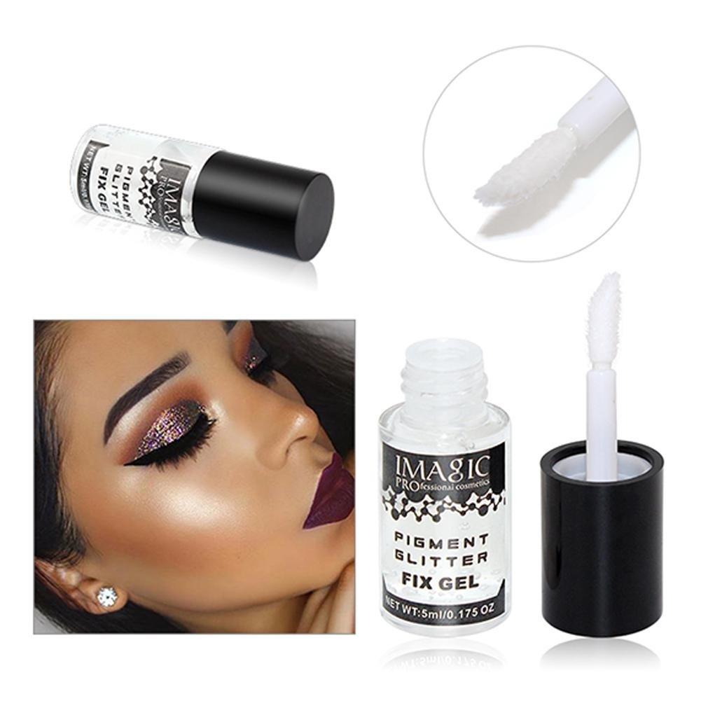 ZHUOTOP Imagic - Gel de maquillaje de 5 ml con purpurina para sombra de ojos, pigmento suelto, pegamento líquido, base de gel resistente al agua