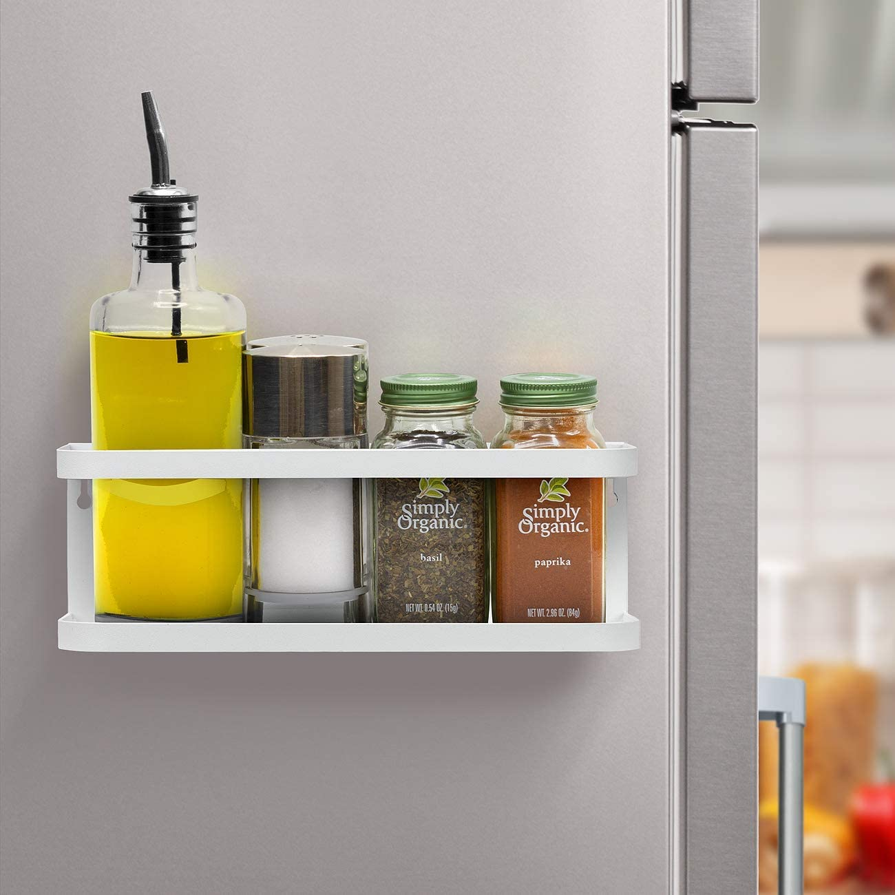 Estanter/ía colgante para frigor/ífico estante magn/ético para especias con estante ganchos estante cocina organizador de cocina almacenamiento magn/ético organizador estante para especias cocina sal/ón