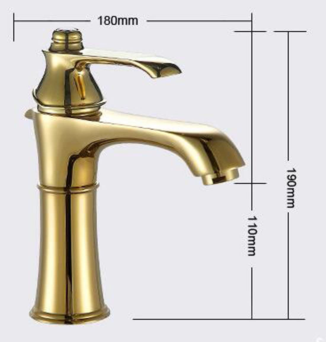 MDRW-Single gold single hole hot and cold basin faucet
