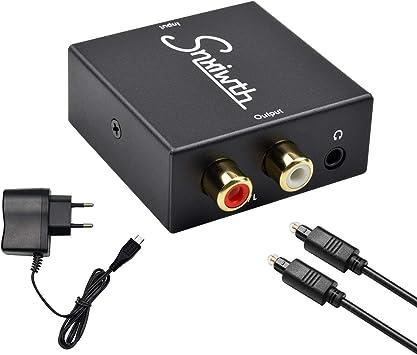 Adaptateur Convertisseur Jack 3.5/mm Vers TOSlink Optique SPDIF pour c/âble audio num/érique