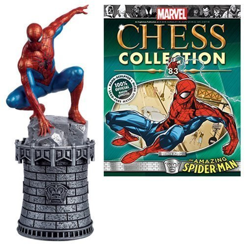 Marvel Amazing Spider-Man White King Chess Piece with Collector Magazine #83 by Spider-Man -  Eaglemoss Publications, 4403053