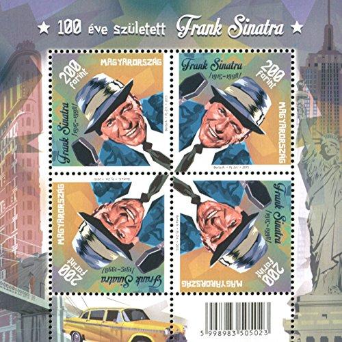 (A WINKING FRANK SINATRA !! * Souvenir Mini Sheet Postage Stamps Hungary 2015 )