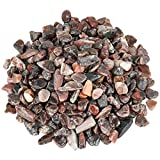 Jewel Miner Petrified Wood Stone Irregular Tumbled Chips Crushed Stone 1lb Healing Reiki Crystal Shaped Stones Home Decoration Tumbled Chips Stone Crushed Crystal Quartz Pieces About 460g
