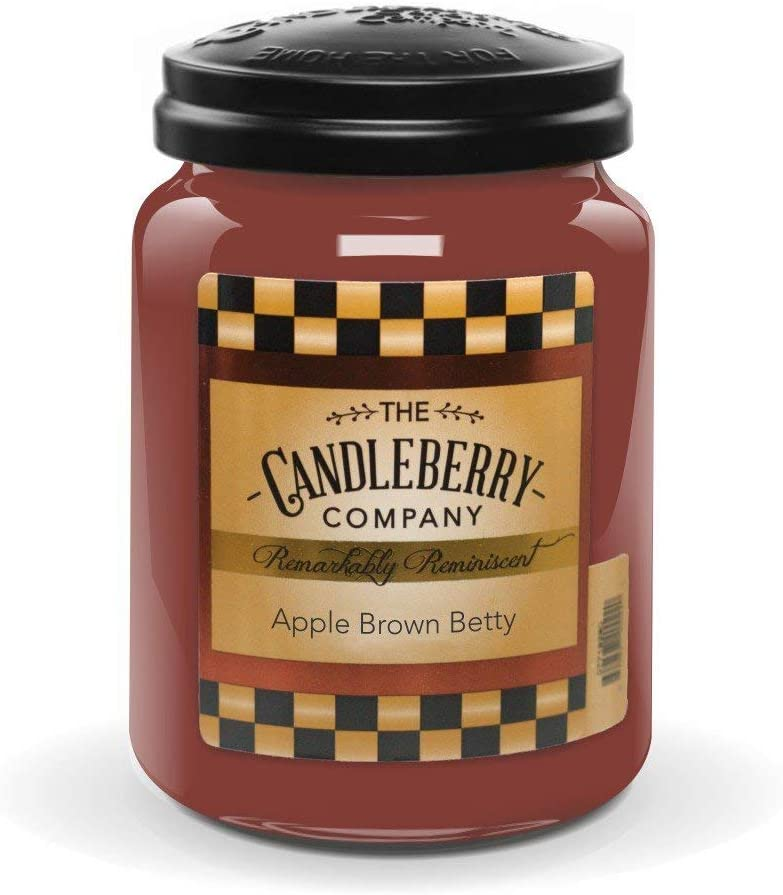 Candleberry Candles   Savory Harvest Candles   Best Candles on The Market   Hand Poured in The USA   Highly Scented & Long Lasting   Large Jar 26 oz (Apple Brown Betty)