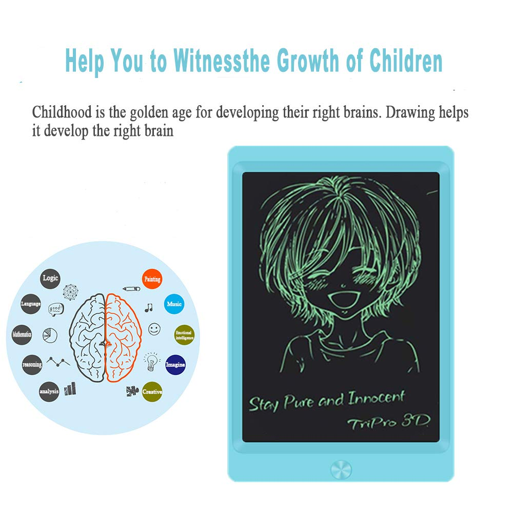 LCD Writing Tablet Blue 8.5-inch Writing Board Doodle Board Electronic Doodle Pads Drawing Board with Lock Function Gift for Kids and Adults at Home,School and Office