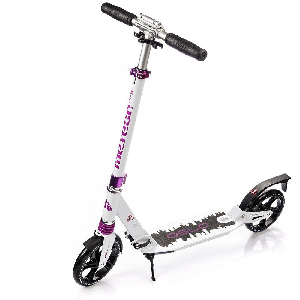 Scooter plegable ruedas grandes 200 mm patinete Niños y Adultos Muy Duradera - hasta 100 kg Patinete de aluminio de alta calidad dos amortiguadores CITY (OSLO) markArtur