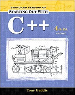 Starting Out with C++: Standard Version 2005 Update Package (Gaddis)