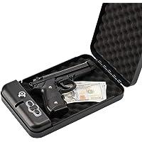 "RPNB Gun Safe, Smart Pistol Safe Handgun Security Safe with LED & RFID Quick Access, 11"" x 7"" x 1.8"""