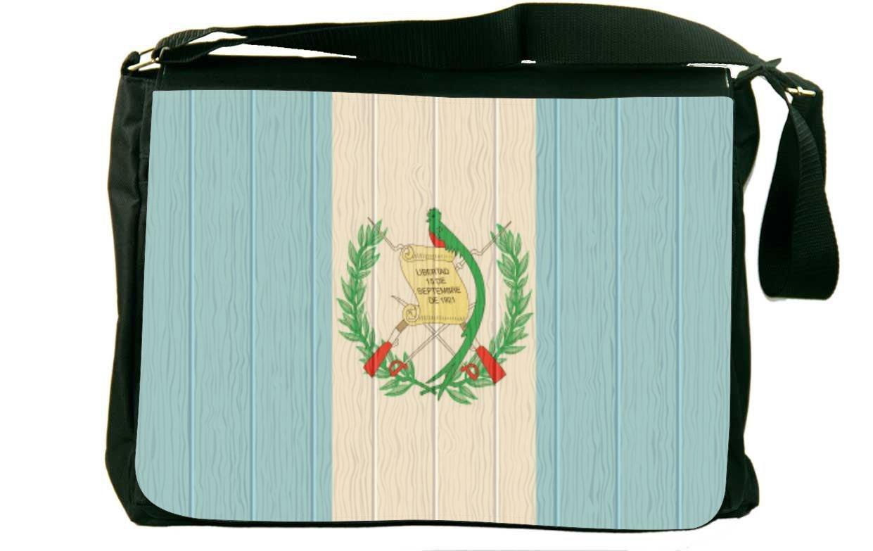 Rikki Knight Guatemala Flag onアンティーク調木製メッセンジャーバッグスクールバッグ B01IJB52ZO