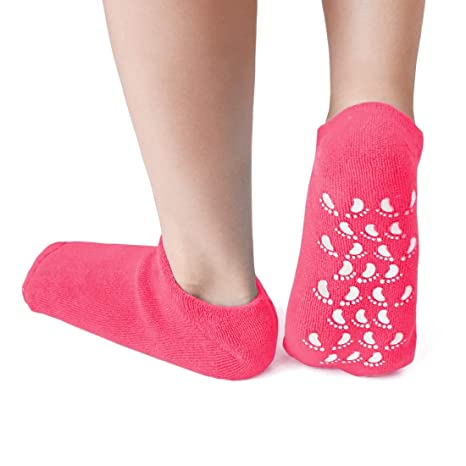 takestop® Calcetines hidratantes calcetín SPA Exfoliante Talla única Interior de Gel Antideslizante tobogán pedalini Salva Pie Color AL Azar: Amazon.es: ...