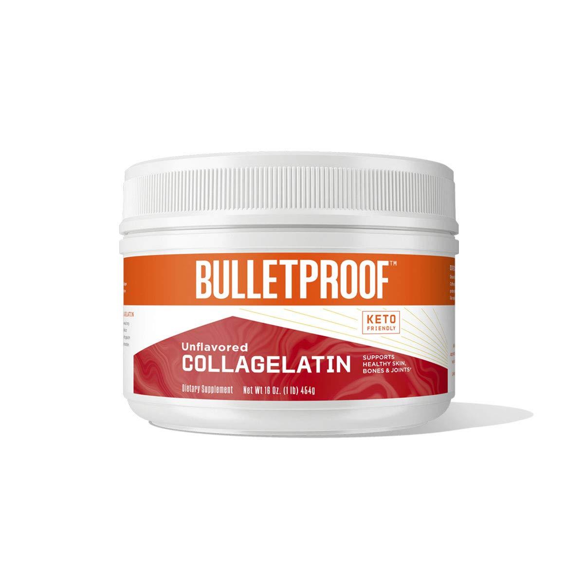 Unflavored CollaGelatin, 11g Protein, 16 Oz, Bulletproof Gelatin Enhanced with Collagen Protein Supports Skin, Bones and Joints