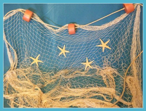 6 x 9 Tan Fisch Netz Fischernetz schwimmt Seil 4 Seestern von Florida Netze