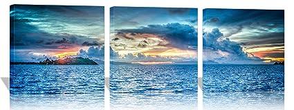 Amazon Com The Melody Art The Sunset Of Bora Bora Island