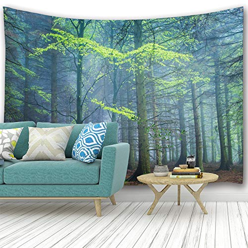 Home Tapestry - PROCIDA Home Tapestry Wall Hanging Nature Art Polyester Fabric Tree Theme, Wall Decor for Dorm Room, Bedroom, Living Room, Nail Included - 90