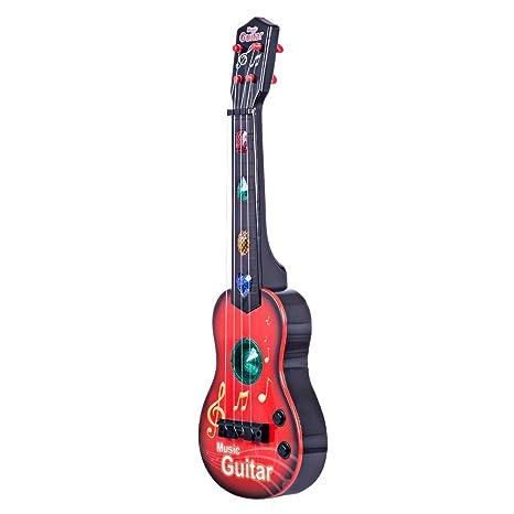 YAKOK 4 Cuerdas Guitarra Electrica Niños Guitarra Bebe Juguete para Niños y Niñas 3-5