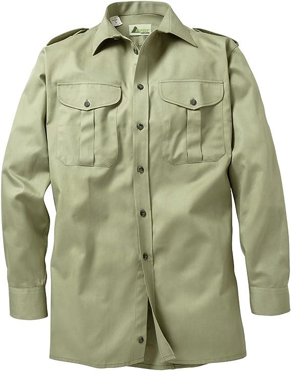 SKOGEN Camisa de Caza caña Verde con Manga Larga Oversize: Amazon.es: Ropa y accesorios