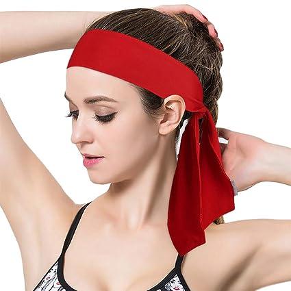 Amazon.com: Ganne Unisex Anti-Slip Sports Elastic Headband ...