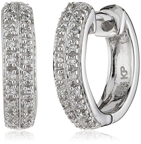 Diamonds by Ellen K. - 317310008-3 - Boucles d'Oreilles Or Blanc 585/1000 2,30 Gr - Diamant 0.10 ct
