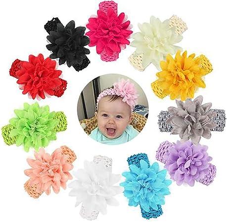 Infant Toddler bébé Fleur Bandeau Nouveau-né cheveux bande Kids Cheveux Accessoires Lot