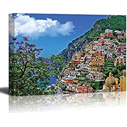 "Wall26 - Canvas Prints Wall Art - Travel in Italy Series - Positano | Modern Wall Decor/ Home Decoration Stretched Gallery Canvas Wrap Giclee Print. Ready to Hang - 16"" x 24"""