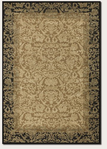 Couristan 1284/4898 Everest Fontana Area Rugs, 9-Feet 2-Inch by 12-Feet 5-Inch, Gold