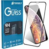 Apple iPhone X XS/10 6D Full Cover Tempered Glass Screen Protector, Tersely Full Coverage Film Guard Full Cover Crystal for Apple iPhone X XS[Anti Fingerprint] [Case Friendly] - Black