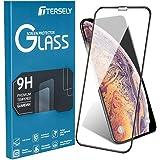 Apple iPhone XR Screen Protector, 6D Full Coverage Cover Tempered Glass Screen Protector for Apple iPhone XR (6.1 inch) [Anti Fingerprint] [Case Friendly] - Black