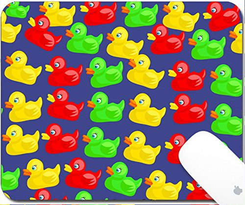 Luxlady Gaming Mousepad Colourful cute cartoon rubber duck wallpaper background design 9.25in X 7.25in IMAGE: 3897075 -