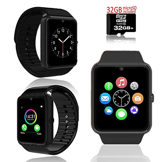 GSM 2-in-1 Smart Watch Phone Camera SIM-Card Slot