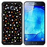 For Samsung Galaxy A8 A8000 - Colored Polka Vintage Dots Pattern Case Cover Protection Design Ultra Slim Snap on Hard Plastic - God Garden -