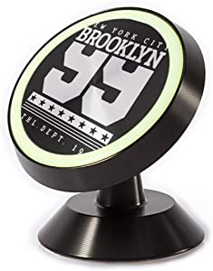 Tinmun Magnetic Phone Car Mount, New York City Brooklyn Number Universal Car Phone Holder for Dashboard