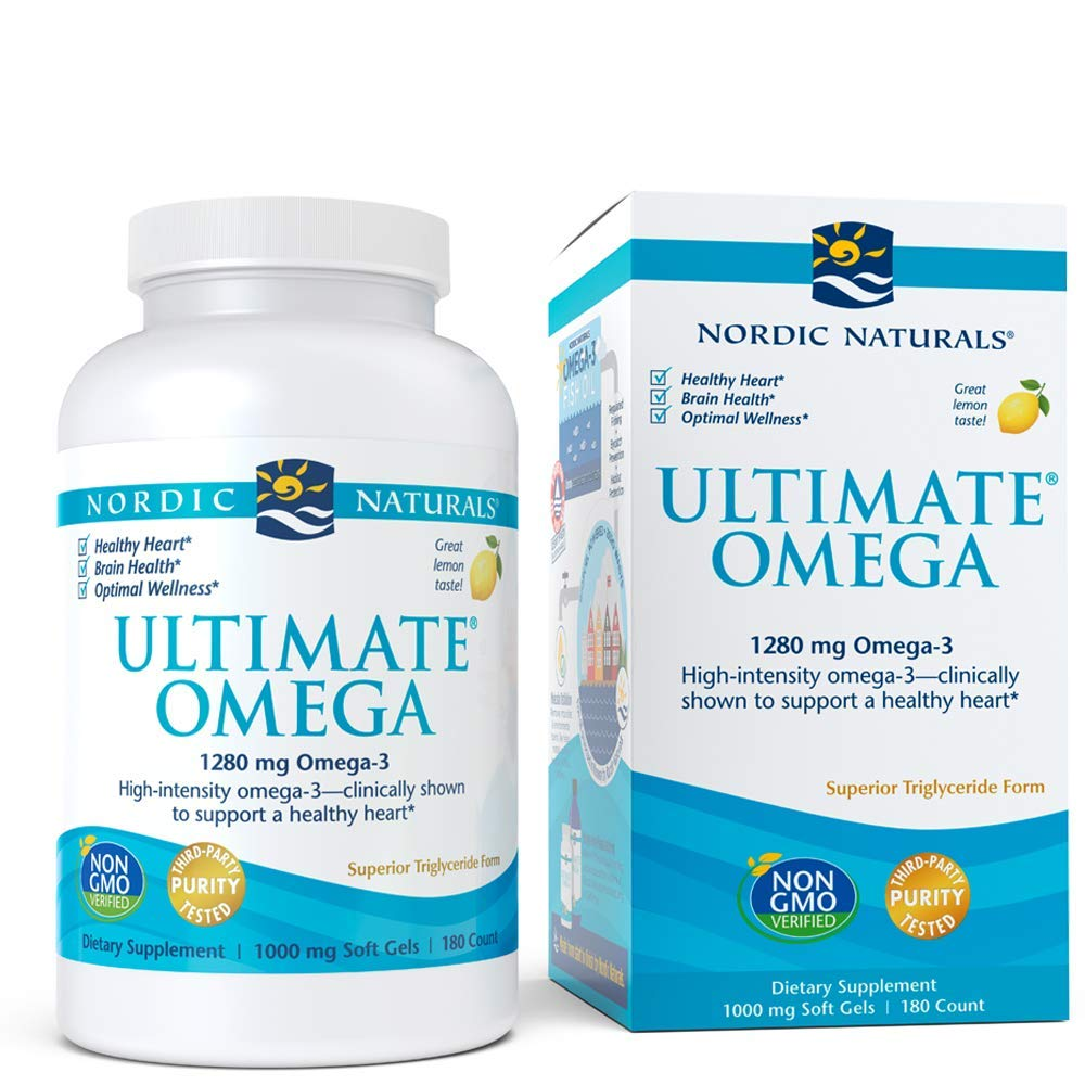 Nordic Naturals - Ultimate Omega, Support for a Healthy Heart, 180 Soft Gels by Nordic Naturals