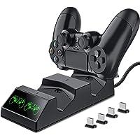 BEBONCOOL Laddare för PS4-styrenhet med USB PS4-tillbehörssatser PS4-laddningsdocka för Sony PS4/PS4 Slim/PS4 Pro…