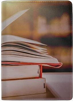 Libros en la Biblioteca Estantería Bloqueador Imprimir Estuche para pasaportes Funda para Viaje Equipaje Pasaporte Billetero Porta Tarjetas Hecho con Cuero para Hombres Mujeres Niños Familia: Amazon.es: Equipaje