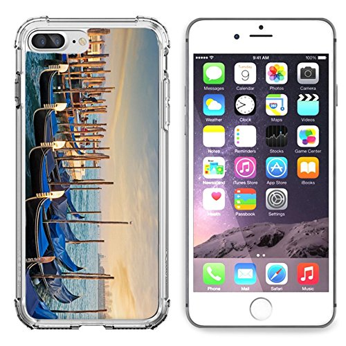 Liili Apple iPhone 6/6S Clear case Soft TPU Rubber Silicone Bumper Snap Cases iPhone6/6S gondolas in San Marco shore - Marc San Marcos