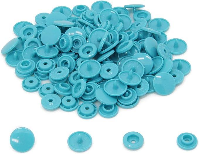 100 Sets Matt Kam Snaps B46 Turquoise Size 20