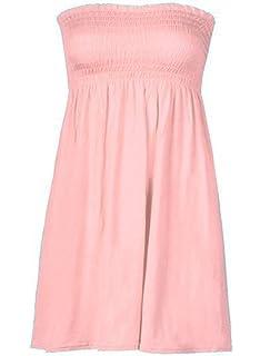 New Womens Plus Size Boob Tube Printed Sheering Summer Maxi Dress 8-26