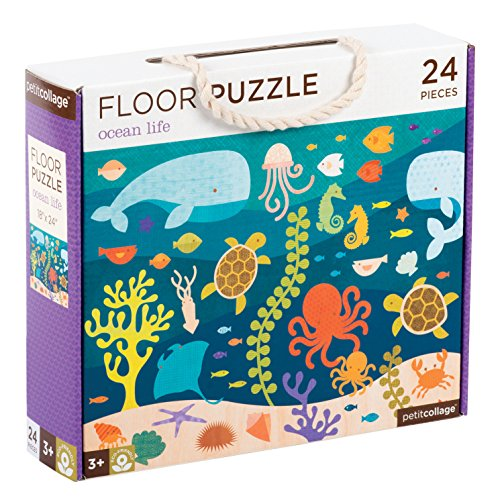 Petit Collage Floor Puzzle, Ocean Life Friends, 24 Pieces