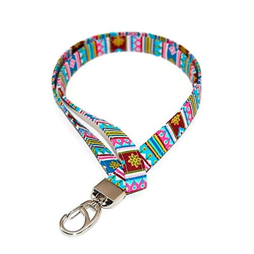 Amazon com: Boho Lanyard for ID or Keys Fabric with Clip Free