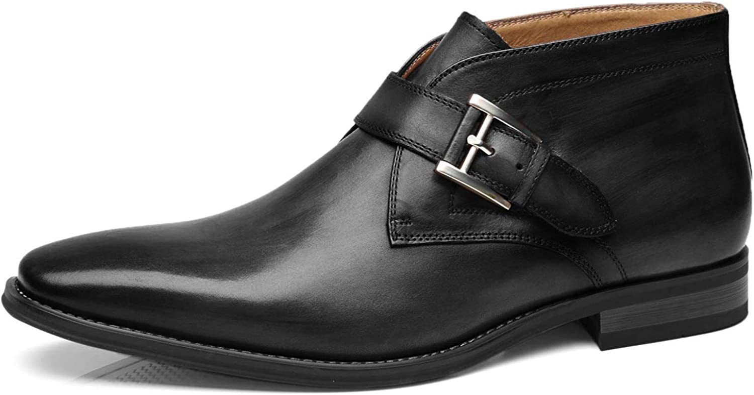 Mens Retro Shoes | Vintage Shoes & Boots La Milano Mens Winter Dress Boots Cap Toe Lace up Genuine Leather Oxford Comfortable Casual Wool Ankle Jack Boots for Men $79.99 AT vintagedancer.com