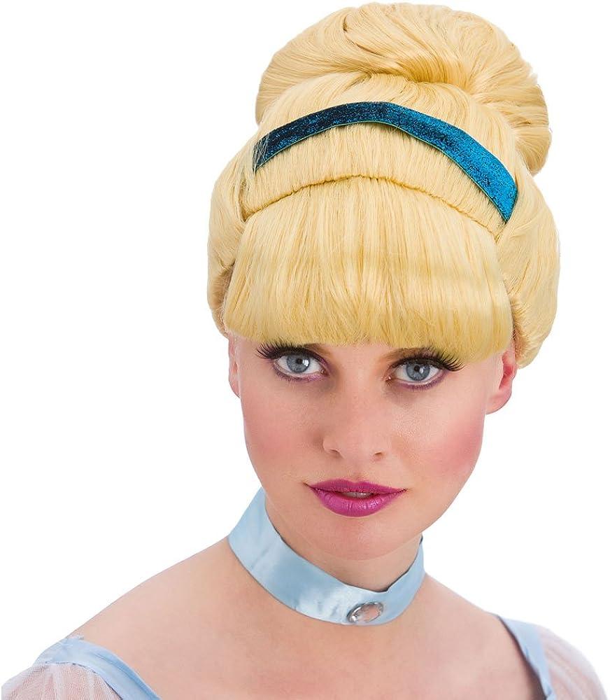 Ladies Sweet Cinders Blonde Wig Fairytale Fancy Dress by Wicked Wicked