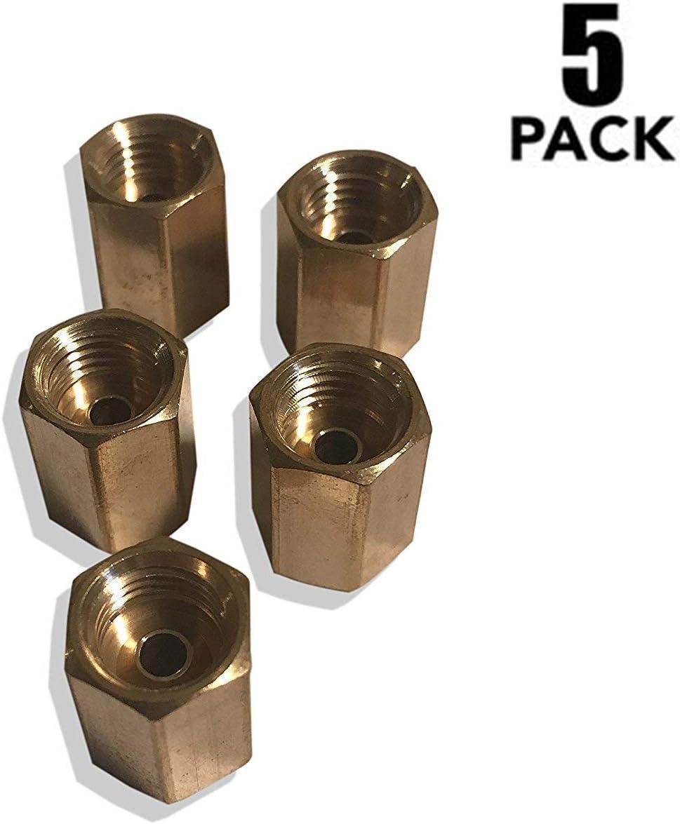 "ASD Brake Line Unions For 1/4"" Tube (7/16-24 Thread, Inverted Flare) (Pack of 5)"