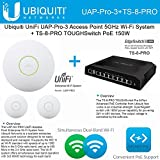 Ubiquiti UniFi UAP-Pro-3 3PACK Access Point 5GHz + TS-8-PRO TOUGHSwitch PoE 150W