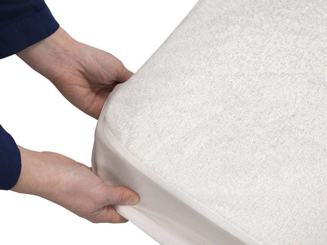 Impermeable 80 x 190 cm Dreaming Kamahaus Protector de colch/ón 100/% Rizo Algod/ón