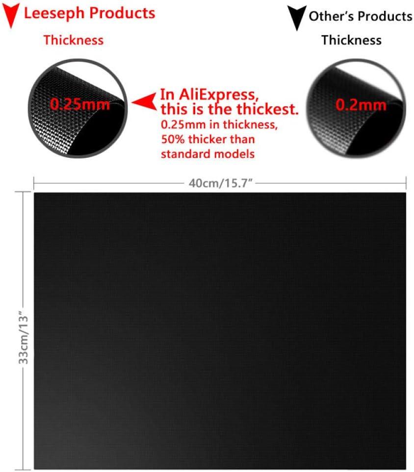 showsing Tapis de Cuisson Barbecue Feuille Cuisson Barbecue Tapis Anti-adhérent et Réutilisable pour Barbecue Électrique Gaz et Charbon 25 mm-Black Set of 4 Black set of 4