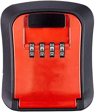 Montable en pared llave caja combinación Gabinete,Bloqueo teclas del cuadro montaje en pared,Caja fuerte con llave combinación impermeable para el exterior,reajustable Código claves cámara repuesto: Amazon.es: Hogar